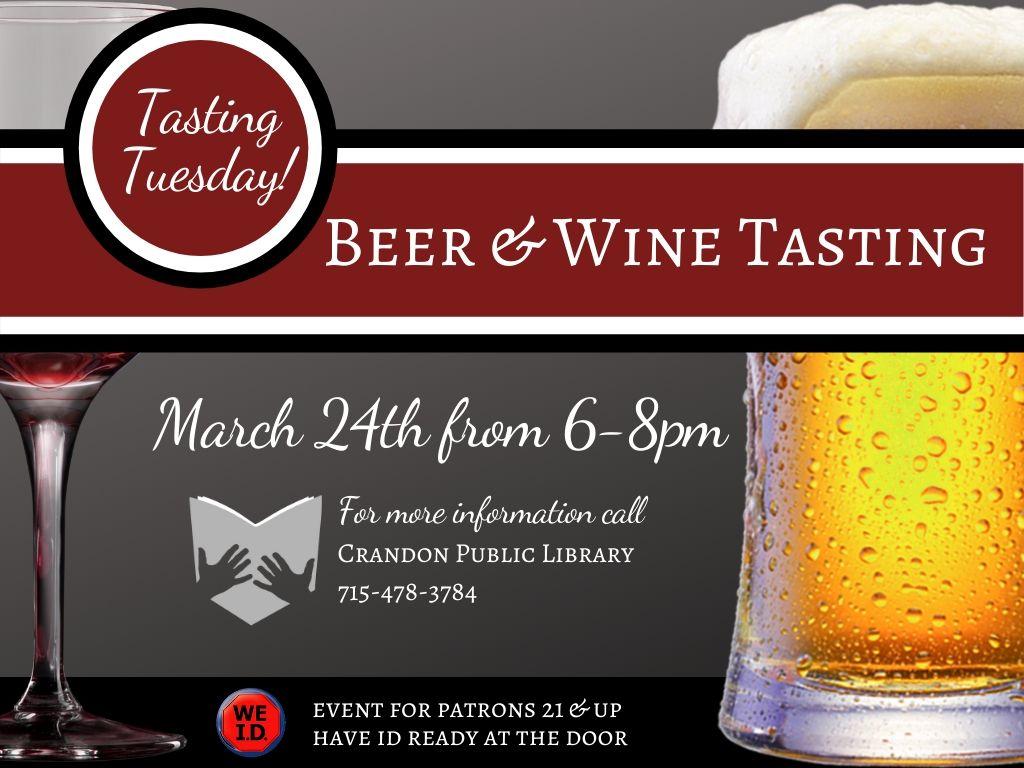 Wine &Beer Tasting March 24, 2020